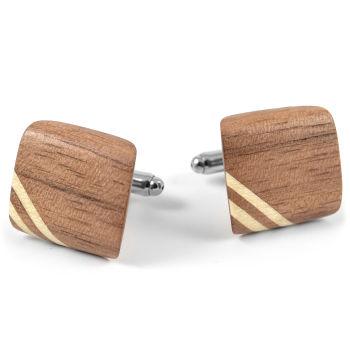 Manžetové knoflíčky z ořechového dřeva