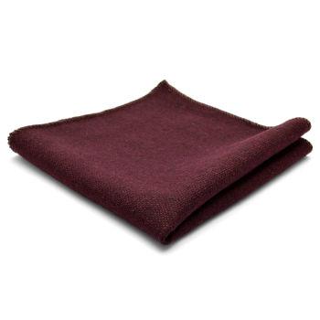 Kézzel készült, bordó színű díszzsebkendő gyapjúból