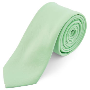 Corbata básica verde menta 6 cm