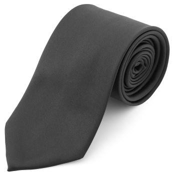 Corbata básica gris oscuro 8 cm