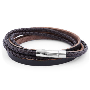 Brown Cord Leather Bracelet