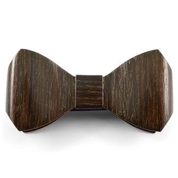 Pajarita de madera de roble negro