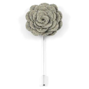 Grey Rose Lapel Pin