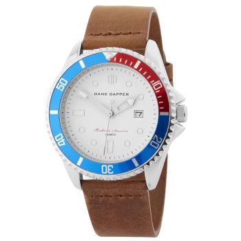 Ruskea & hopeatopaasi Mariner-kello