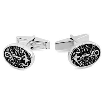 Gemelos de plata 925s homenaje marinero