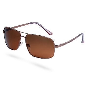 Óculos de Sol Polarizados Retangulares Castanhos