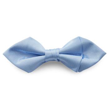 Pajarita básica puntiaguda azul claro brillante