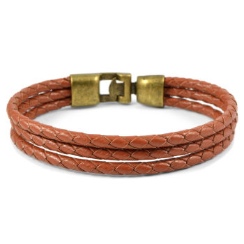 Triple Bolo Læderarmbånd