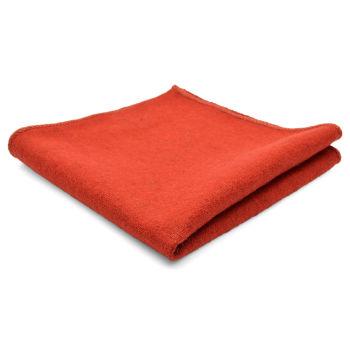 Pañuelo de bolsillo de lana artesanal naranja