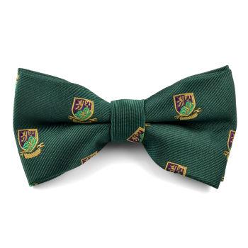 Pajarita verde con emblema