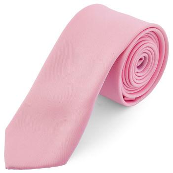 Podstawowy krawat w kolorze jasnoróżowym 6 cm