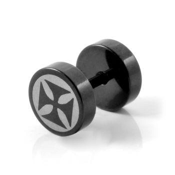 7mm Knight Cross Stud Earring