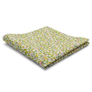 Pañuelo de bolsillo de algodón con diseño abstracto verde