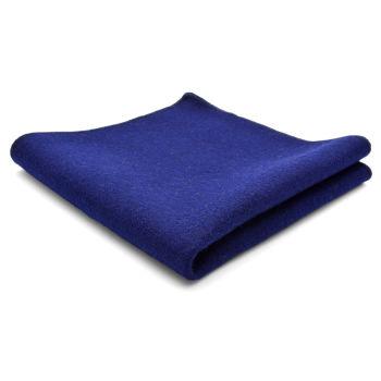 Pañuelo de bolsillo de lana pura artesanal azul