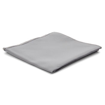 Pañuelo de bolsillo básico gris claro