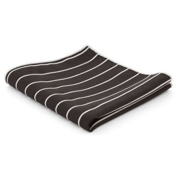 Pañuelo de bolsillo negro a rayas
