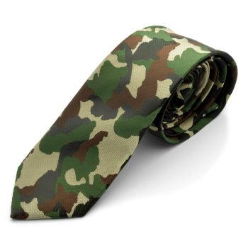 Corbata de camuflaje verde/marrón