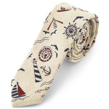 Corbata con motivo marinero