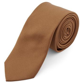 Corbata básica marrón claro 6 cm
