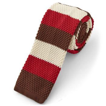Corbata de punto rojos otoñales