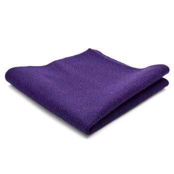 Pañuelo de bolsillo de lana pura artesanal morado