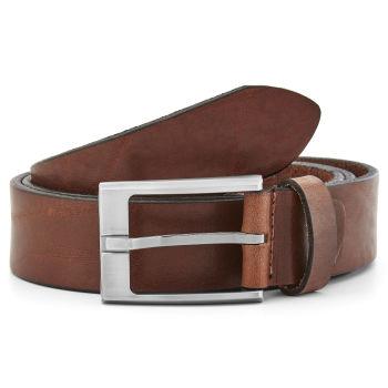 Cinturón de cuero de color marrón cálido