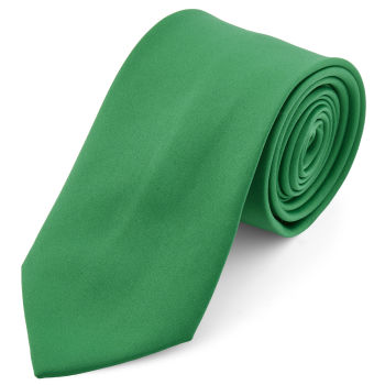 Podstawowy krawat w kolorze szmaragdowo-zielonym 8 cm