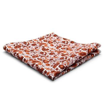 Rød Blomsterdesign Bomulds Lommeklud