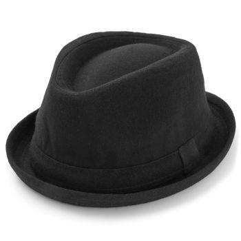 Zwarte Trilby hoed