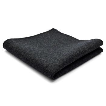 Pañuelo de bolsillo de lana artesanal gris oscuro