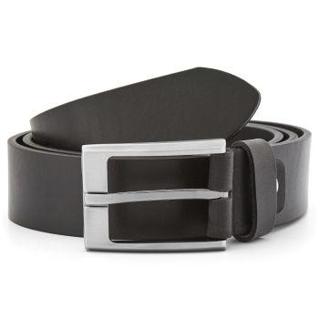 Cinturón de piel lisa en negro