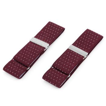 Vínové puntíkované elastické pásky na rukávy