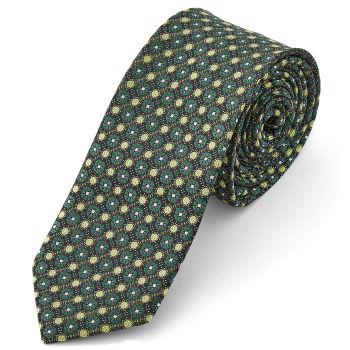 Corbata verde estampada
