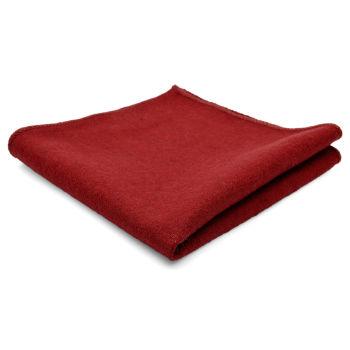 Pañuelo de bolsillo de lana artesanal rojo
