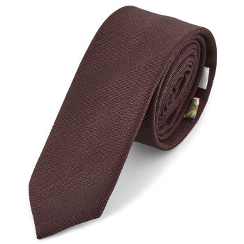 Corbata marrón con dibujo