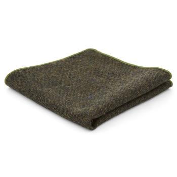 Pañuelo de bolsillo de lana verde oscuro