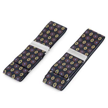 Elastické pásky na rukávy s květinovým a diamantovým vzorem