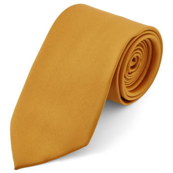 Corbata básica ocre 8 cm