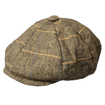 Gorra Newsboy marrón claro