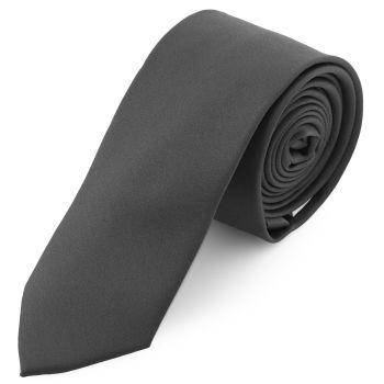 Corbata básica gris oscuro 6 cm