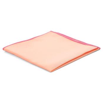 Pañuelo de bolsillo básico rosa salmón