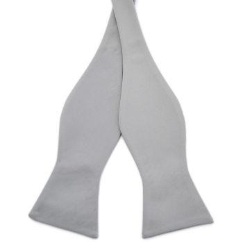 Pajarita para atar básica gris claro