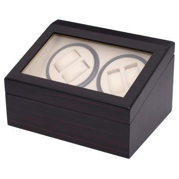 Ebenholz Uhrenbeweger & Aufbewahrungsbox Für 10 Uhren