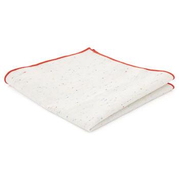 Pañuelo de bolsillo de lino blanco