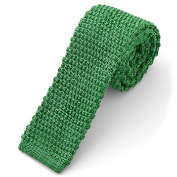 Corbata de punto verde lima