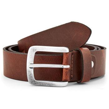 Cinturón de piel marrón desgastado