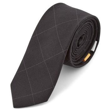 Corbata negra a cuadros