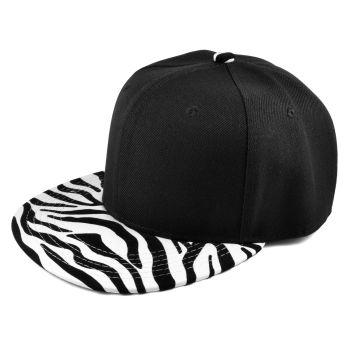 Gorra snapback cebra negro / blanco
