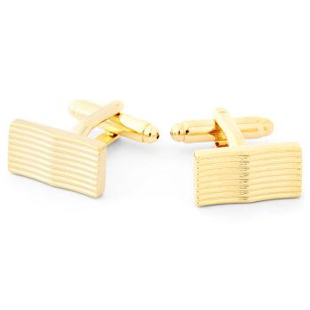 Botões de Punho Curvos Dourados