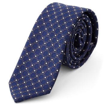 Corbata con diseño azul